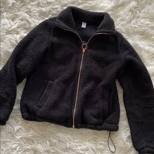 OLD NAVY Thick zip-up with rose gold zipper
